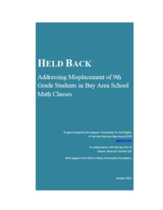 Held Back (2013)