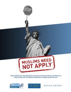 Muslims Need Not Apply (2013)