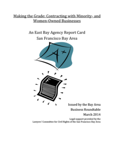Making the Grade: Contracting with Minority- and Women-Owned Businesses Report Card (2014)