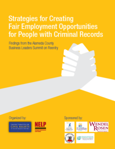 Strategies for Creating Fair Employment Opportunities for People with Criminal Records (2014)